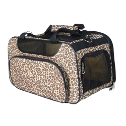 Leopard dog travel tote bag